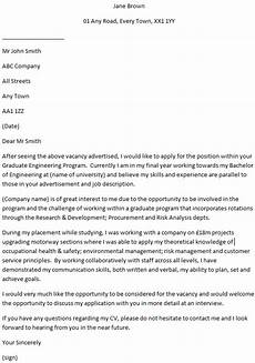 Engineer Cover Letters Graduate Engineer Cover Letter Example Learnist Org