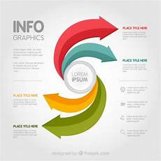 Infographic Arrow Infographic Template With Colored Arrows Vector Free