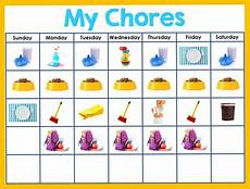 Chore Chart Pictures Editable Chore Chart For Kids Happy Brown House