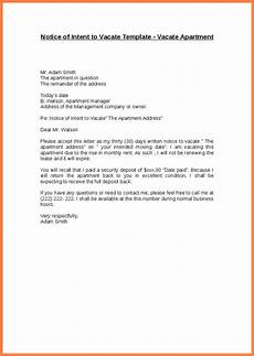 Notice To Vacate Apartment Templates Sle Letter To Landlord Vacate Apartment Resume Template
