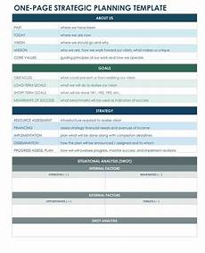 Free Strategic Plan Template One Page Strategic Plan Excel Template Strategic