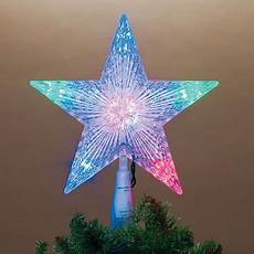 Large Light Up Star Tree Topper Multicolor 5 Point Star Led Light Up Christmas Tree Topper