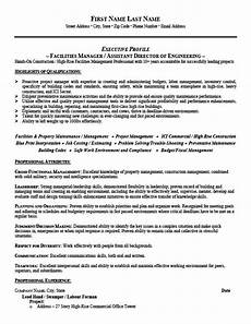 Facilities Manager Resume Facilities Manager Resume Template Premium Resume