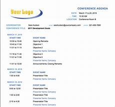 Agenda Layout Examples 10 Free Meeting Agenda Templates For Microsoft Word