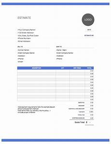 Remodeling Estimate Template Estimate Templates Free Amp Easy Download Invoice Simple