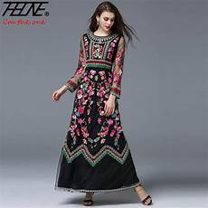 embroidery fashion 2017 embroidered dress high fashion t show
