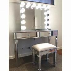 mirrored 2 drawers makeup vanity dressing table buy