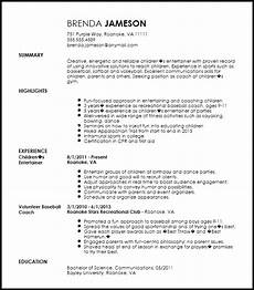Softball Coach Resume Free Creative Sports Coach Resume Template Resume Now