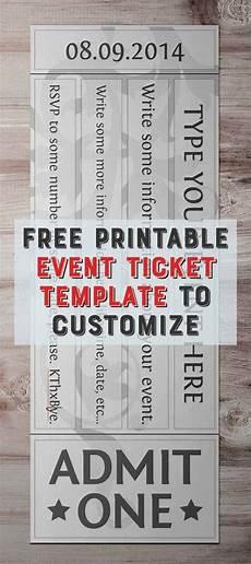 Free Online Ticket Template Free Printable Event Ticket Templates Free Printables Online