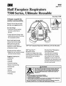 Respirator Mask Size Chart 3m 7502 37082aad Half Facepiece Reusable Respirator