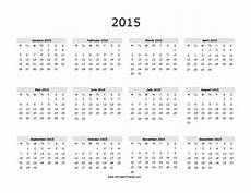 Free Printable Yearly Calendar Templates 2015 2015 Calendar Free Printable Allfreeprintable Com