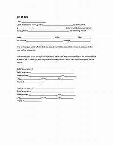 Bill Of Sale Form Download Vehicle Bill Of Sale Form Free Download Edit Fill