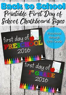 First Day Of Preschool Template Printable First Day Of School Signs From Abcs To Acts