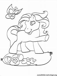 Ausmalbilder Pferde Schmetterling Filly Pferd Bastelvorlage Imagui