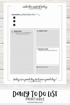 To Do Sheets Get More Done Daily To Do Sheet Printable Kendra John
