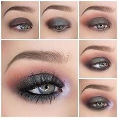 augen make up dezent blau twilight grunge eyeshadow tutorial eye makeup blue dress