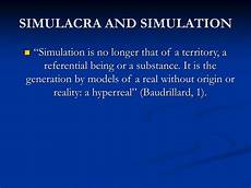 Simulacra And Simulation Ppt Walter Benjamin The Work Of Art In The Age Of