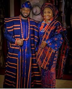 African Wrapper Designs 2017 Nigerian Wedding Trend Alert Striped Aso Oke Kamdora