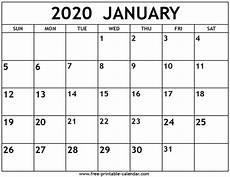 Calendar January December 2020 January 2020 Calendar Free Printable Calendar Com