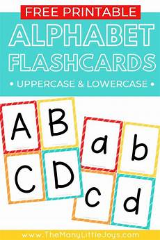 Lowercase Letters Flash Cards Free Printable Alphabet Flashcards Upper And Lowercase