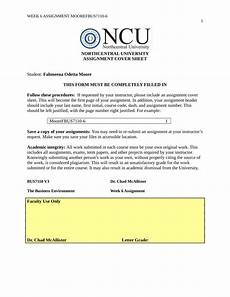 How To Write A Cover Page Pdf Northcentral University Assignment Cover Sheet
