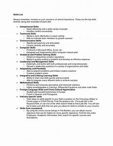 Specialized Skills For Resume 9 Skills To Put On A Resume Sample Resumes