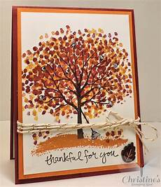how to make a thanksgiving cards christine s stamping spot video making a fall scene