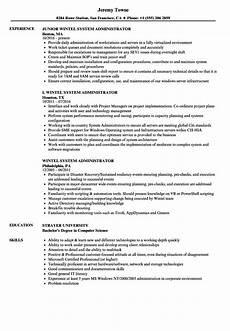 Server Admin Resume Wintel System Administrator Resume Samples Velvet Jobs