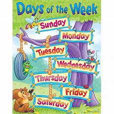 Printable Days Of The Week Chart Days Of The Week Learning Chart Trend Enterprises Inc T
