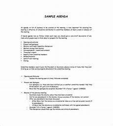 Business Agenda Format Simple Agenda Template 8 Free Word Excel Pdf Format