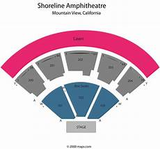 Shoreline Seating Chart View Shoreline Amphitheatre Mountain View Ca Seating Chart View