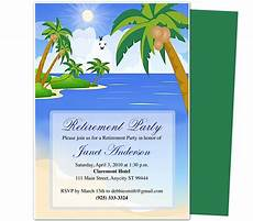 Retirement Party Invitation Template Word Retirement Templates Paradise Retirement Party