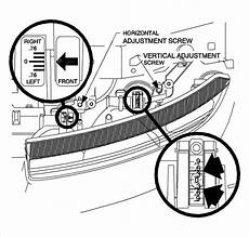Saturn Ion Engine Light Maintenance How Do You Aim The Headlights In A 2001