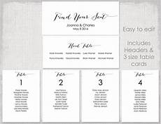 Template For Wedding Table Plan Wedding Seating Chart Template Black Quot Bombshell Quot Diy