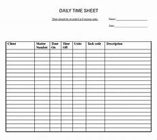 Daily Time Sheet 22 Daily Timesheet Templates Free Sample Example