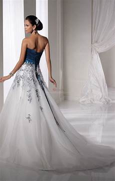 tall white and blue wedding dress a trusted wedding