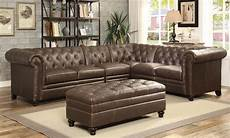 2 pcs button tufted sectional sofa with armless chair