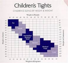 Tights Size Chart Child Tights Fitting Chart Dance Supplies Usa