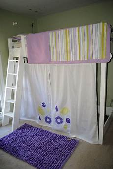 white loft bed with curtain diy projects