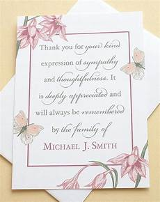 Condolences Thank Yous Condolence Thank You Cards With Flowers And Butterflies Etsy
