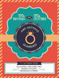 Vector Poster Color Chic Wedding Poster Vector Free Vector Graphic