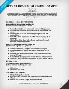 Resumes For Stay At Home Stay At Home Resume Sample Amp Writing Tips Resume