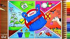 How To Make Chart On Pollution How To Draw Stop Plastic Pollution Drawing Poster Chart