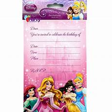 Disney Party Invitations Disney Princess Party Invitations X 8 Girls Birthday