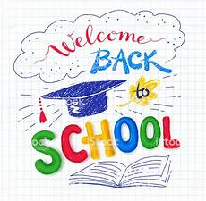 Welcome Back Poster Welcome Back To School Poster Stock Illustration