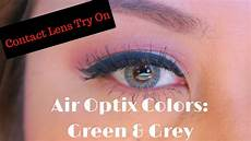 Air Optix Color Chart Air Optix Colors Try On Green Amp Gray On Dark Brown Eyes