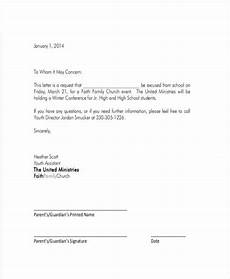 School Absence Note Template Free School Letter Templates 8 Free Sample Example Format