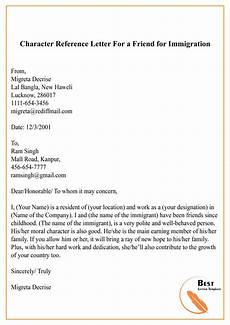 Immigration Reference Letter For A Friend Example Character Reference Letter For A Friend For Immigration 01