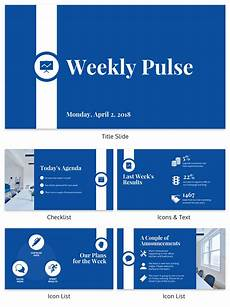 Powerpoint Update Template Corporate Pulse Weekly Update Business Presentation