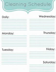 Printable Cleaning Schedule Template Editable Cleaning Schedule Template